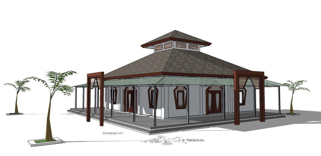 perpektif desain masjid