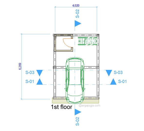 Denah Lantai 1 Rumah Kecil