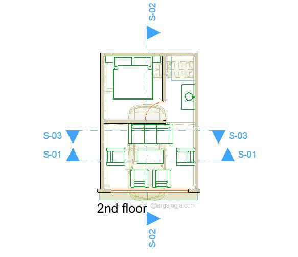 Denah Lantai 2 Rumah Kecil