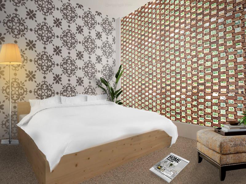 Interior Ruang Tidur Utama Fasad Bata