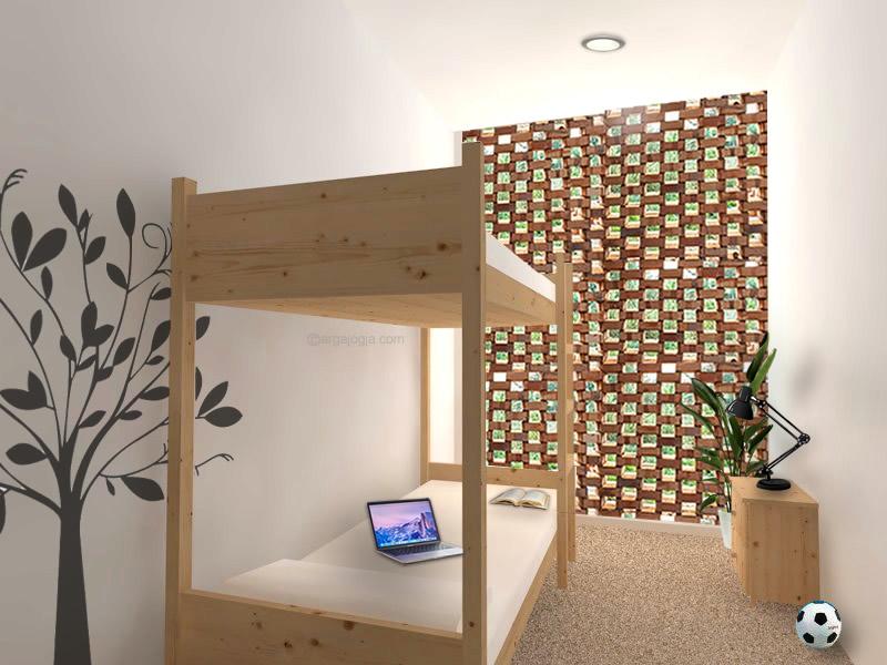 Interior Kamar Tidur Anak Fasad Bata
