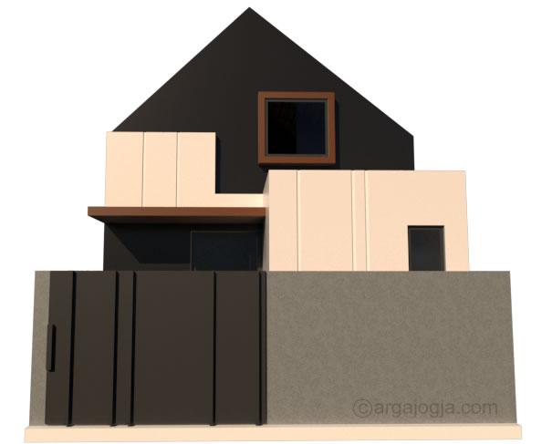 Fasad rumah kecil lebar 5 meter