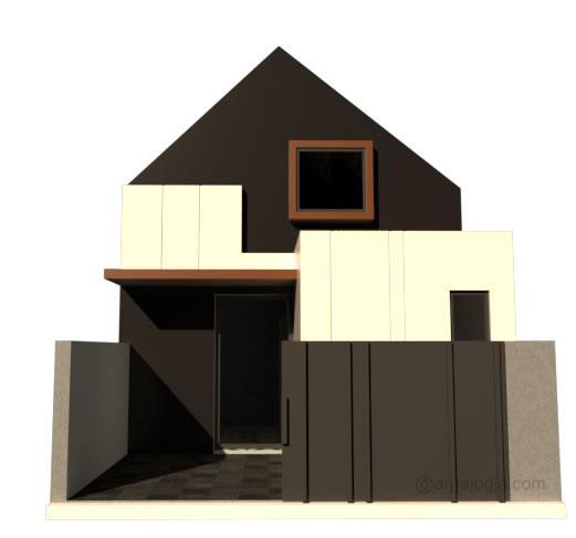 pintu gerbang terbuka rumah kecil