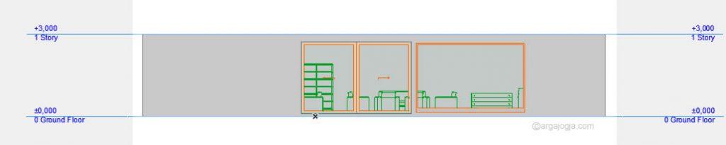 Tampak Depan Rumah Kotak Hitam Minimalis