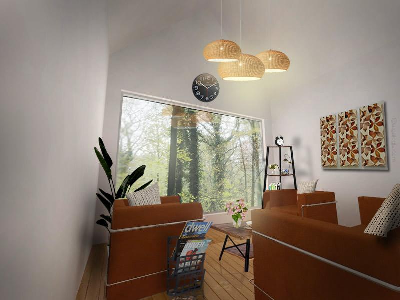 Desain Interior Villa Panggung di Hutan