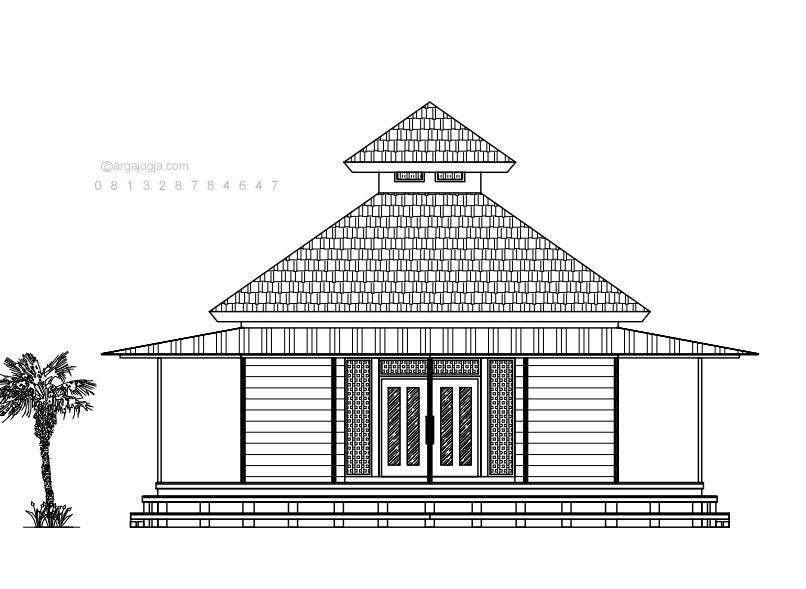 Desain Mushola Kayu Sederhana