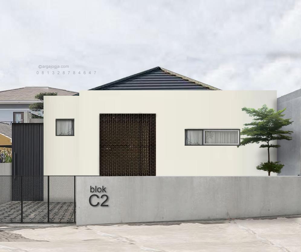 Desain Fasad Rumah Modern Minimalis Lahan 100 m2