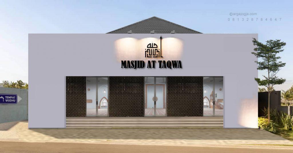Desain Masjid Simpel Minimalis Putih Industrial