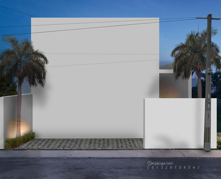 desain rumah kotak unik minimalis tanpa pintu jendela