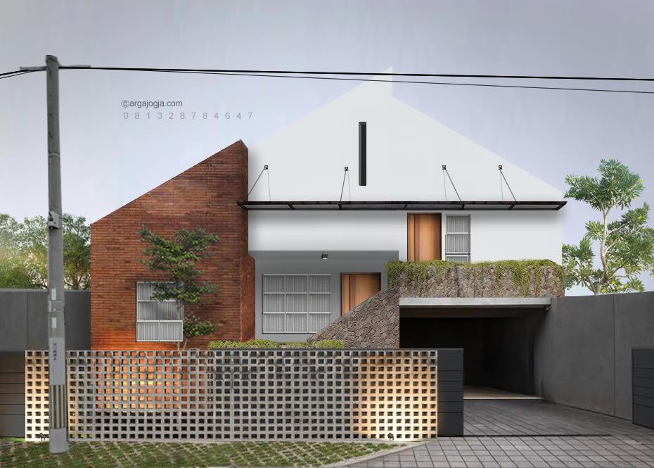 Desain Fasad Rumah Tropis Panggung Unik Minimalis
