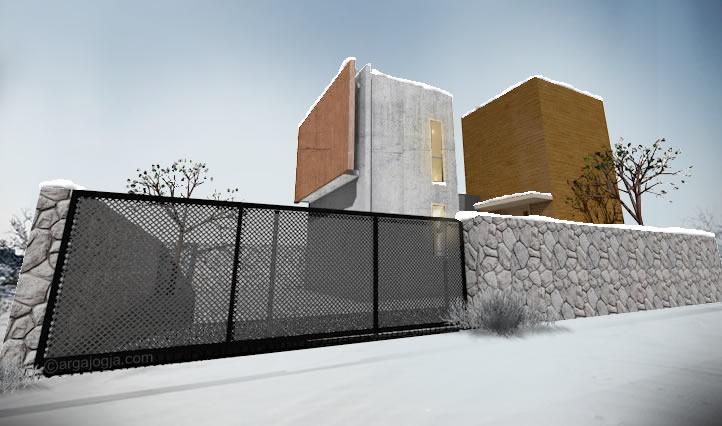 fasad rumah rumah kotak minimalis 2 lantai