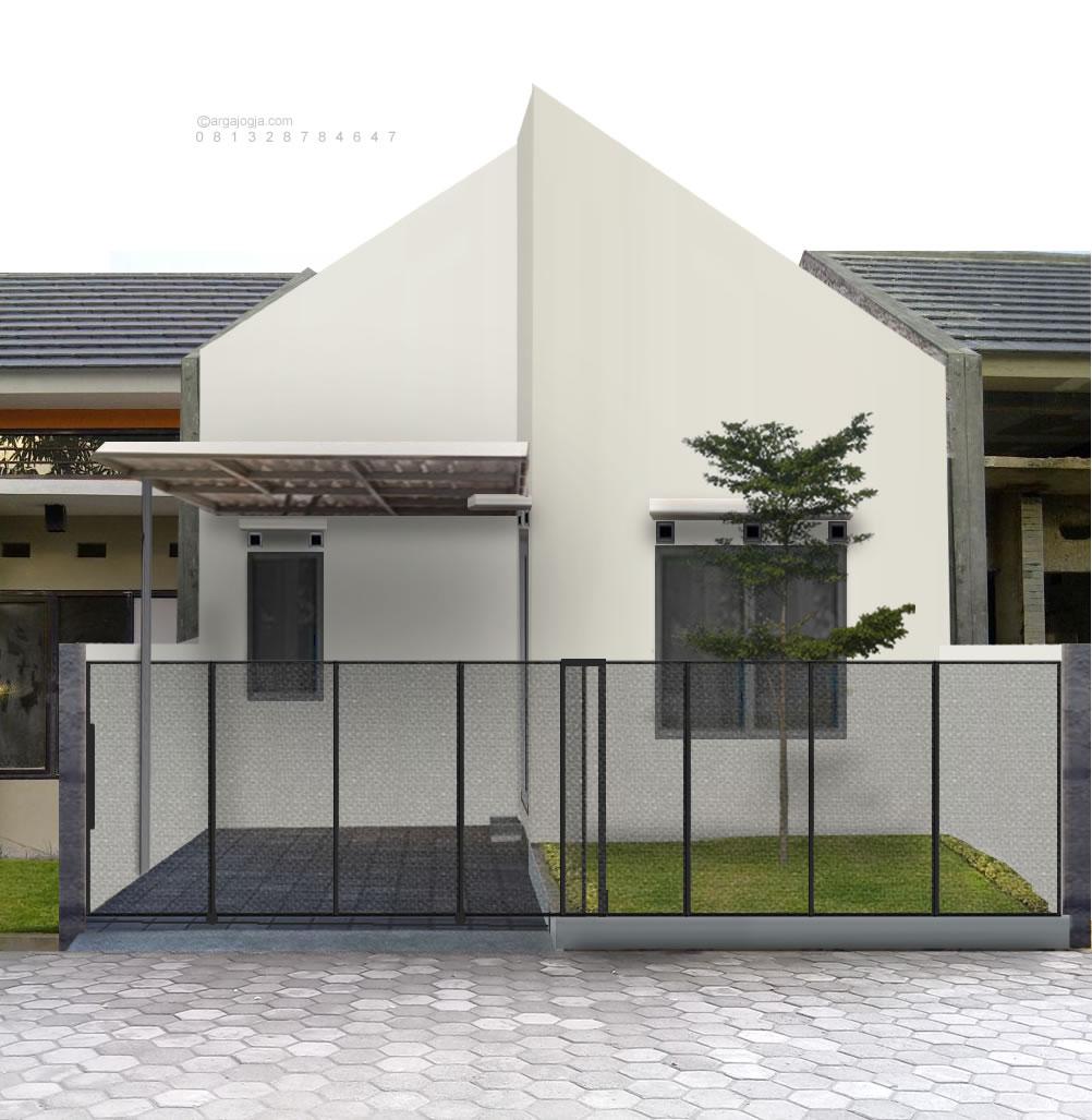 Desain Rumah Sederhana Putih Manis Minimalis