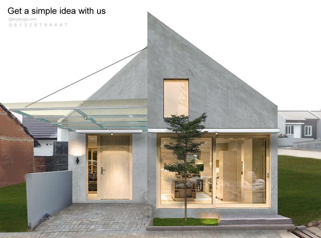 Desain Fasad Ruang Usaha Kecil di Perumahan Sederhana