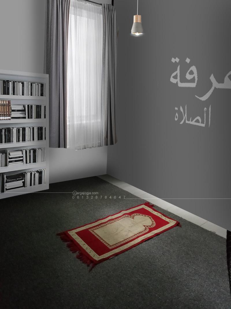 Desain Interior Sederhana Mushola di Rumah