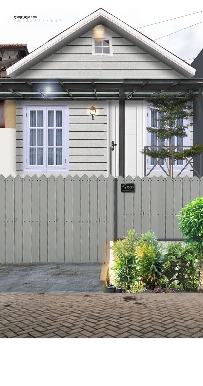 renovasi fasad depan rumah ditinggikan