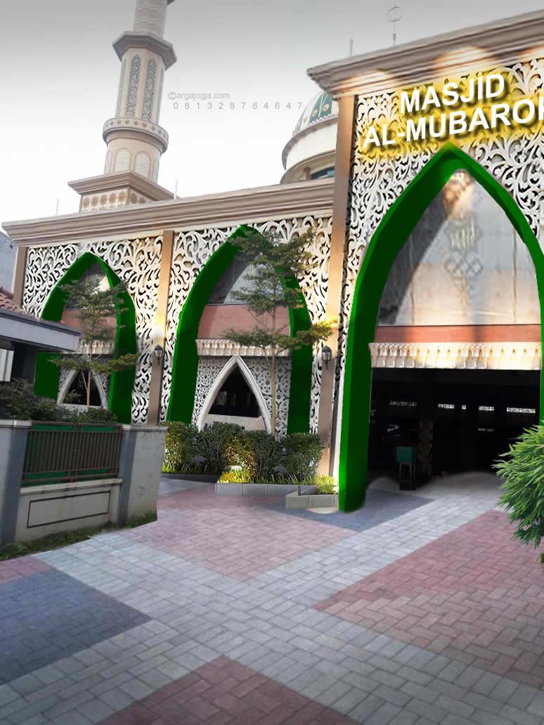 Desain Renovasi Fasad Masjid Al Mubarok