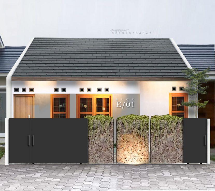 desain fasad rumah sederhan optimal lahan
