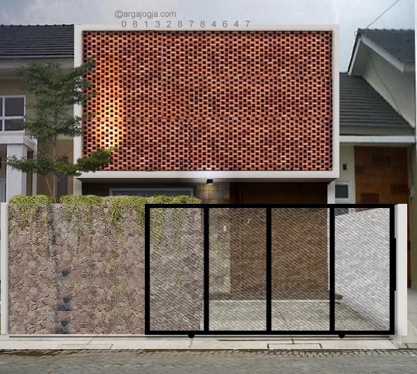 desain rumah minimalis fasad bata