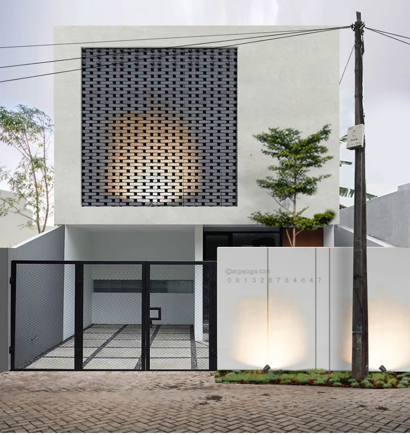Desain Fasad Industrial Bata Hitam