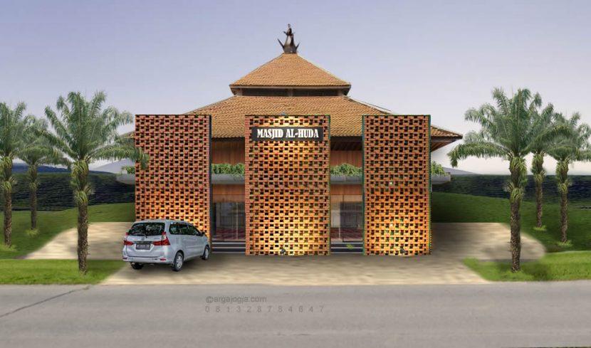 Desain Masjid Tropis Asri Sejuk Natural